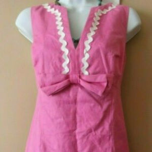 Lilly Pulitzer Dresses - Lilly Pulitzer dress CLASSIC Bow ric rac sheath 8